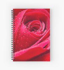 Dew on Red Rose Spiral Notebook