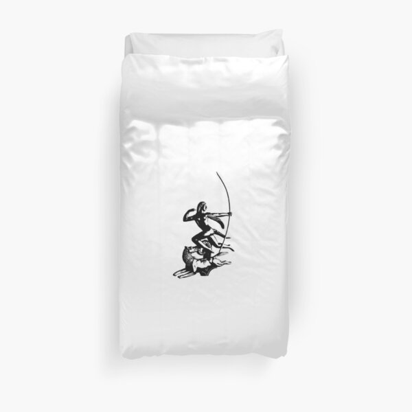 Diana Running with Wolf Duvet Cover