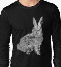 White Rabbit (Monochromatic Hue Series) Long Sleeve T-Shirt
