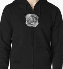 Snow Flower Zipped Hoodie