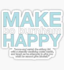 """""""Make Happy"""" Sticker"""