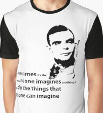 Turing  - Black and White Style Graphic T-Shirt