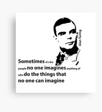 Turing  - Black and White Style Canvas Print
