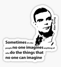 Turing  - Black and White Style Sticker