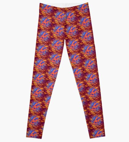 Color dragon pattern abstract  Leggings