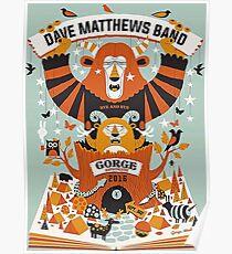 Dave Matthews Band, Tour 2016, The Gorge Amphitheatre George WA Poster