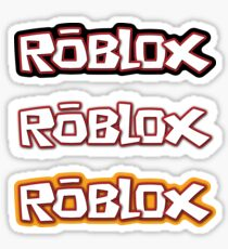 Roblox stickers x3 [black/white/yellow] Sticker