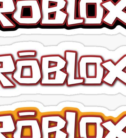 Roblox stickers x3 [black/white/yellow] Sticker