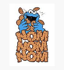 Cookie monster - Nom Nom Nom Photographic Print