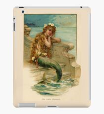 Vintage young mermaid from a bath salts advert iPad Case/Skin