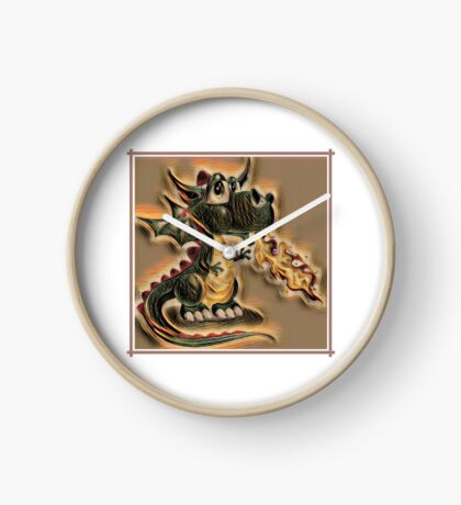 Draco the Dragon quilt pattern Clock