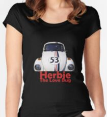 Herbie The Love Bug Women's Fitted Scoop T-Shirt
