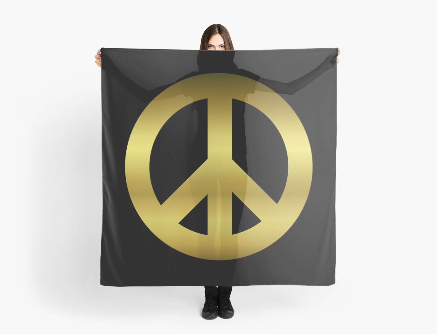 Golden CND Peace Symbol\