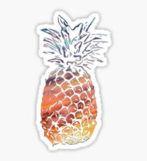 Sunset Pineapple Sticker
