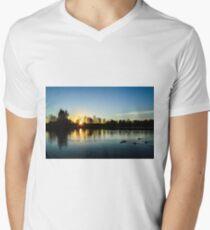 Washington Winter Sunset Men's V-Neck T-Shirt
