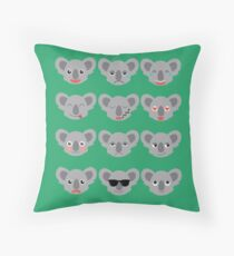 Koala moods Throw Pillow