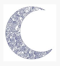 Floral Moon Photographic Print