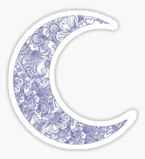 floral moon Sticker