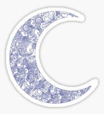 lune florale Sticker