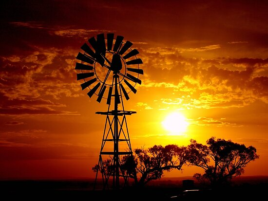 Rural Sunset by Clive