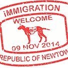Republic of Newtown - 2014: Sticker Red by Ethel Yarwood
