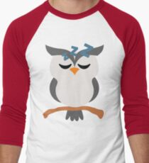 Night Owl Emoji Tired and Sleep Face Men's Baseball ¾ T-Shirt