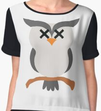 Night Owl Emoji Faint and Knock Out Face Chiffon Top