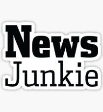 News Journalism Press Media Junkie Shirt Gift Sticker