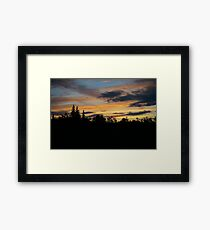 Forest Sunset Framed Print