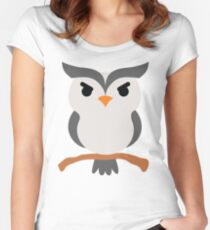 Night Owl Emoji Angry and Mean Face Women's Fitted Scoop T-Shirt