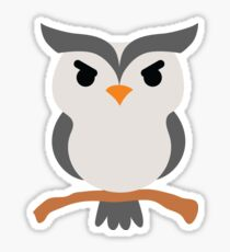 Night Owl Emoji Angry and Mean Face Sticker