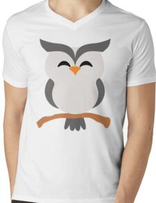 Night Owl Emoji Happy with Joy Face Mens V-Neck T-Shirt