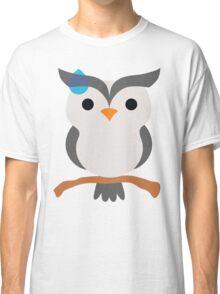 Night Owl Emoji Sweat and Speechless Face Classic T-Shirt