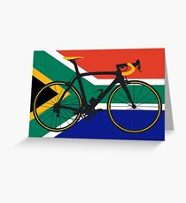 Bike Flag South Africa (Big - Highlight) Greeting Card