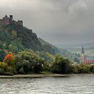 Schönburg and an Autumn Tree by Larry Lingard-Davis