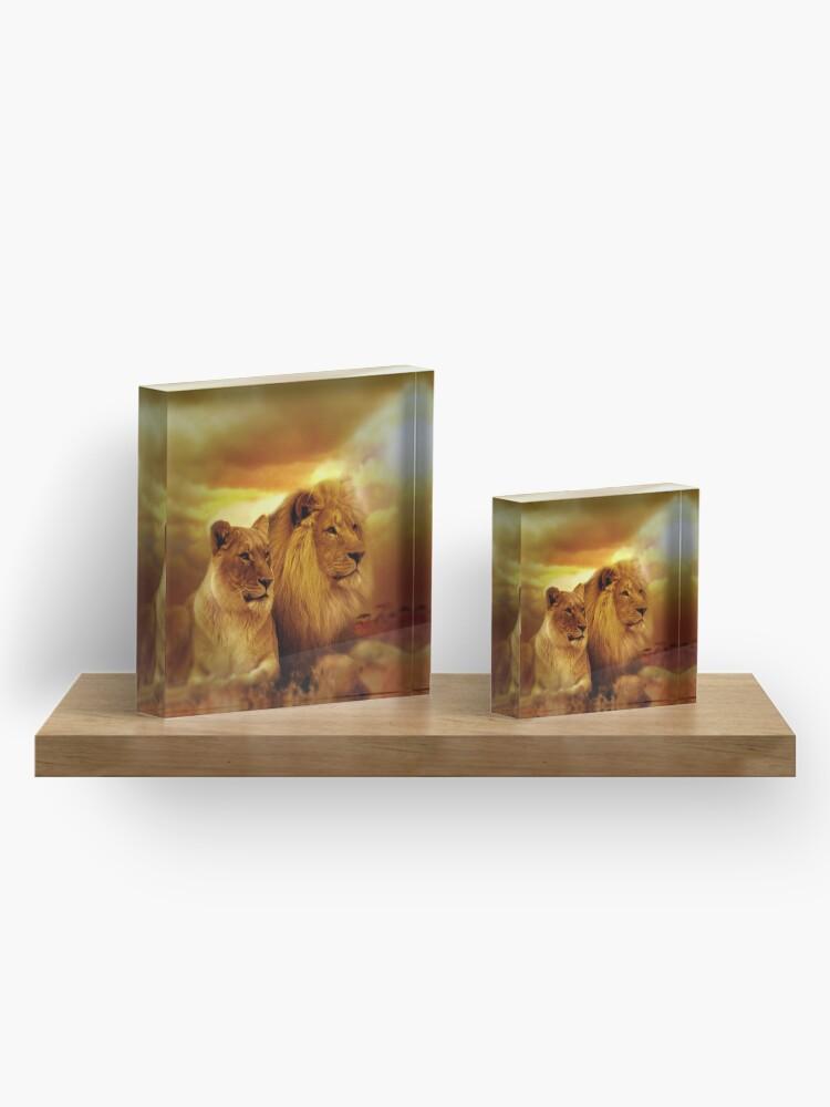 Alternate view of Lion Couple Acrylic Block