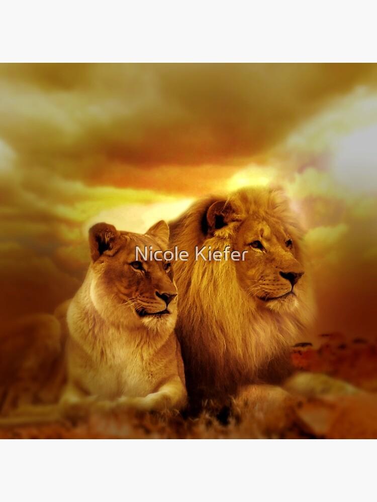 Lion Couple by NicoleK-design