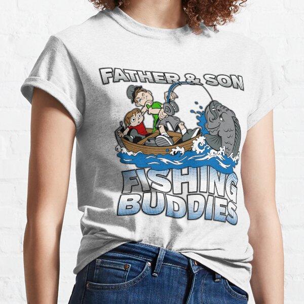 La varilla padre Hombre Mujer Camiseta Gracioso Pescadores Pesca Navidad T-Shirt