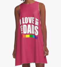 LGBT T-shirts: Two dads A-Line Dress