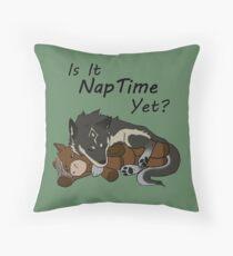 """Wolf Link """"Naptime"""" Fan Art Throw Pillow"""