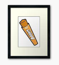 Orange Calippo Framed Print