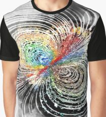 Colliding Cosmic Forces - Abstract Expressionist Digital Watercolor Graphic T-Shirt