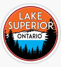 LAKE SUPERIOR ONTARIO CANADA BOATING JET SKI BOAT CAMPING HIKING Sticker
