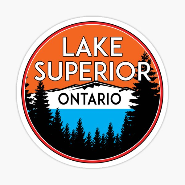 LAKE SUPERIOR ONTARIO CANADA BOATING JET SKI BOAT CAMPING HIKING Sticker
