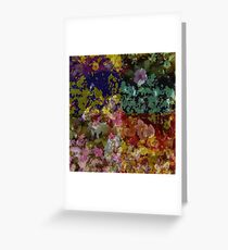 Floral Bouquet PopArt Greeting Card