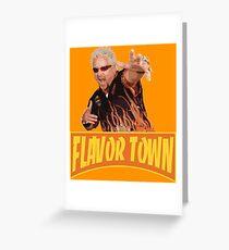 Guy Fieri - Flavor Town Greeting Card