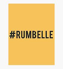 #Rumbelle Photographic Print