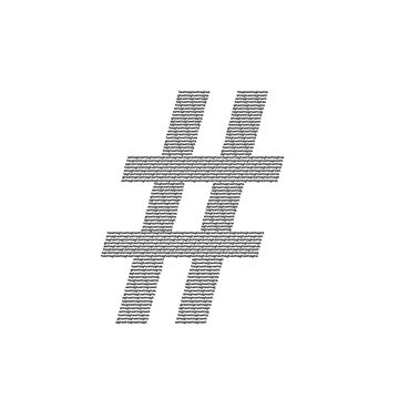 Hashtag of Hashtags in Black by chipchops