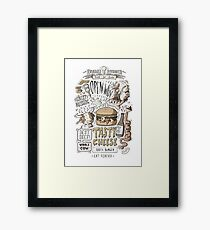 Dumb burger Framed Print
