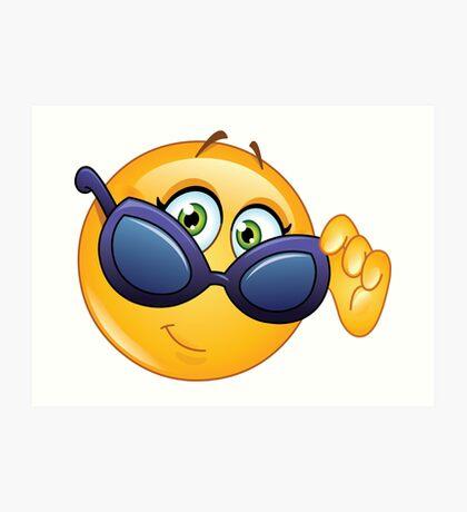 Sunglasses Emoji: Art Prints   Redbubble